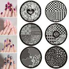 New Premium Nail Art Image Stamp Stamping Plates Manicure Template hehe Series