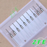 10 Pcs Carbide Micro Drill Bits CNC PCB Dremel Select Size From 0.2mm to 1.8mm