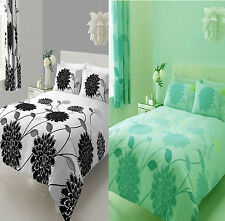 NEW Sofia Floral Duvet Set Quilt Bed cover single double king modern black green
