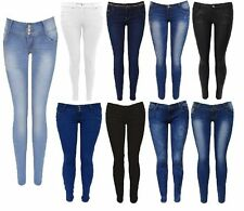Ladies Women Jeans Faded Slim lot Denim  Skinny Trouser Collection Size 6-16