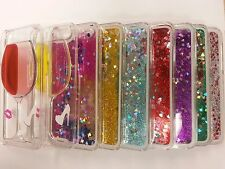 Glitter Stars Bling Liquid Novelty Clear Cover Fits iPhone Case 4 5 5S 5C 6 Plus