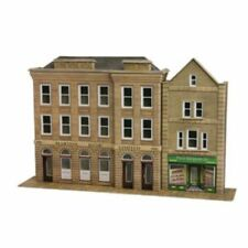 PO271 00/H0 Low Relief Banks & Shops  Metcalfe Model Kit Building