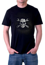 JOLLY TRUCKER  skull & wrenches Black T-shirt Adult