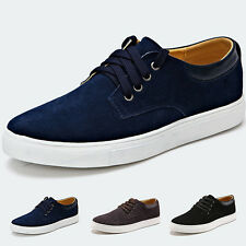 Fashion England Style Men Lace Suede Leather Oxfords Low-top Casual Flats Shoes