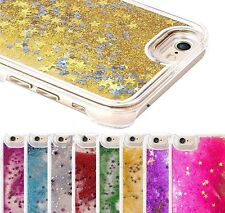 Glitter Stars Hard Bling Case Liquid Water Cover Fits iPhone 4S 5 5S 5C 6 plus
