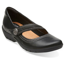 Clarks ORDELL BECCA Womens Black Leather 05880 Slip On Comfort Mary Jane Shoes