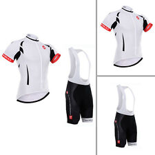 Cool Mens Road Bike Clothing Shirt Bib Shorts Cycling Jersey Brace Pants Packs