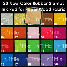 20 New Color Rubber Stamps Ink Pad for Paper Fabric Wedding Finger Print #IP-01