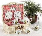 CHILDREN'S TEA SET FOR 2 Lady Bugs Large Size Childs in Basket NEW