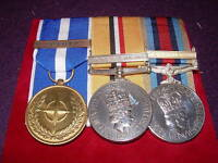 MINIATURE  MEDAL COURT MOUNTING SERVICE - FAST TURNAROUND, RIBBONS CHANGED,