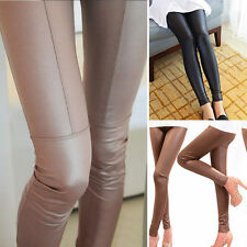 Hot Womens Sexy Faux Leather Leggings Stretchy Skinny Trousers Pencil Pants