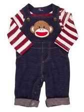 Baby Boy's Sock Monkey 2 pc Overall Set by Baby Starters