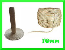 10mm Natural Sisal Rope Twisted Braided,Decking,Garden,Cat Scratching Post,Craft