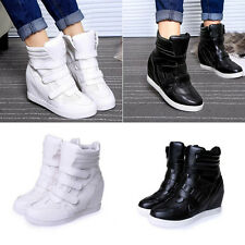 Women Platform Wedges Sneakers High Top Shoes Ankle Boots Sport Running Shoes