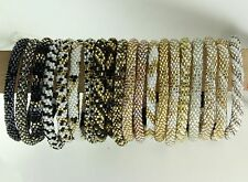 Lily and Laura Bracelets Neutral Colors - Black Gold Silver White Gray etc