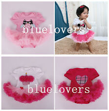 GIRLS TODDLER BABY PRINCESS DRESSES BIRTHDAY PARTY DRESS OUTFITS TUTU