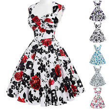 VINTAGE 50s 60s Housewife Rockabilly Swing PIN UP Evening Party Retro Prom Dress