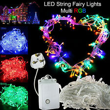 100/200/300/500 LED Indoor/Outdoor String Fairy Lights Xmas Party Home Decor UK