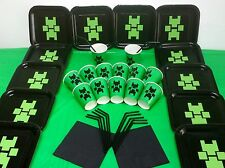 Minecraft Birthday Party Kit Plates Cups for children with one official Sticker