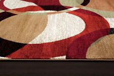 BURGUNDY BLACK BEIGE MODERN NEW AREA RUG CONTEMPORARY PERSIAN CARPET