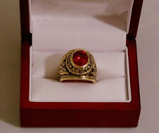 NEW US ARMY MILITARY RING SIZES 8 THRU 14 RED CZ & FREE GIFT BAG VETS OR ACTIVE