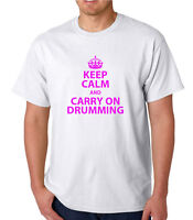 Keep Calm / Carry On Drumming, NOVELTY/ FUNNY T SHIRT Christmas / Birthday Gift