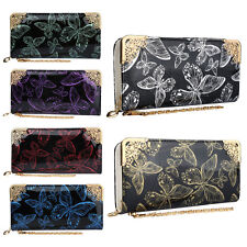 New Hot Ladies Women PU Liangpi Long Butterfly Retro Three-dimensional Wallet