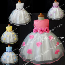 #TF4 Baby Flower Girl Formal Wedding Gown Dress 0 3 6 9 12 18 24 Months 2T 3T 4T