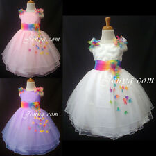 #RB5 Flower Girl Wedding Pageant Formal Gowns Dress 0 1 2 3 4 5 6 7 8 9 10 11 12
