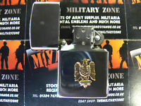 Army Military Regimental Lighter With Royal Dragoons On Front