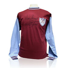 Sir Geoff Hurst and Martin Peters signed West Ham shirt
