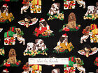 Christmas Puppy Dog Present Holiday Timeless Treasures Cotton Fabric YARD