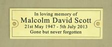 "Solid Polished Brass Engraved Plaque Memorial, Bench, Sign, 4"" x 2"" or 6"" x 2"""