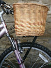"Bike/Cycle/Bicycle 18"" RD Wicker Basket & Support/Bracket/Holder: Universal Fit"