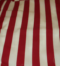 RED AND WHITE STRIPE FABRIC 5yds BY 16ins Wide
