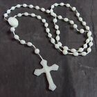 Plastic basic rosary beads necklace glow in the dark luminous