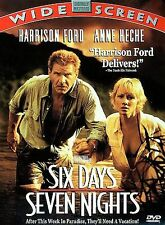 Six Days, Seven Nights (DVD, 1998) Harrison Ford Anne Heche NEW