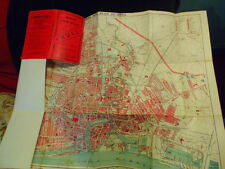 HULL, EAST RIDING, YORKSHIRE, BROWN'S TOWN MAP/PLAN 1919-20,ON LINEN, GAZETEER