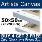 50x50cm (20x20 inch) Plain Stretched Artists Oil Painting Blank Large Canvas