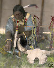 "SALIVA 1907 NATIVE AMERICAN SIOUX INDIAN 8x10"" HAND COLOR TINTED PHOTOGRAPH"