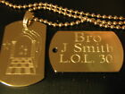 SILVER ORANGE ORDER DOG TAG WITH YOUR OWN NAME & LODGE No