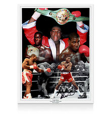 Frank Bruno hand signed photo - Boxing Montage