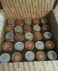 30 EMPTY 4 oz BABY FOOD JARS WITH LIDS clean ready for use!