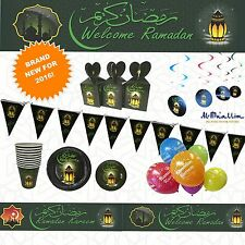 RAMADAN Party Decorations Banners Ramadhan Flags Gift Boxes Buntings Balloons