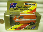 Matchbox MB60G 1981 Australia Post WE DELIVER Ford transit Van Mint in Excnt Box
