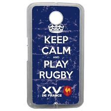 Etui housse coque rugby licence officielle Rugby XV de France 7 Google Nexus 6