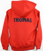Personalised Boys Embroidered Hoodie Any Wording!  6 Colours available Age 1-13