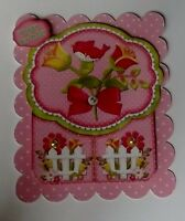 PK 2 PRETTY SUMMER BIRD HAPPY BIRTHDAY TOPPER EMBELLISHMENT FOR CARDS OR CRAFTS