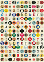 Cavallini Vintage Alphabet Wrapping Paper