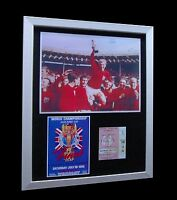 ENGLAND- MOORE 1966 WORLD CUP FINAL LTD Numbered FRAMED+EXPRESS GLOBAL SHIPPING